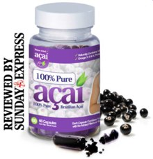100% PureAcai Berry in the Daily Express